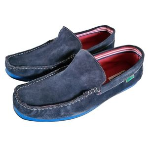 Lacoste Men's Blue Suede Loafers Size 10